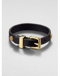 Marc By Marc Jacobs | Black Studded Leather Bracelet | Lyst