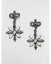 M.c.l  Matthew Campbell Laurenza | Metallic White Topaz Enamel and Sterling Silver Earrings | Lyst