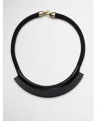 Orly Genger By Jaclyn Mayer - Black Fiona Enamel Rope Mini Bib Necklace - Lyst
