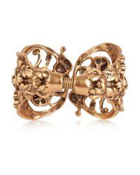 Oscar de la Renta Metallic Goldplated Scroll Cuff