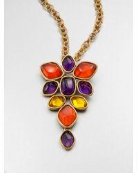 Oscar de la Renta - Metallic Convertible Cluster Pendant Necklace - Lyst