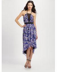 Robert Rodriguez Multicolor Floral Print Hilo Dress