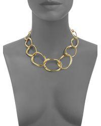 Slane - Metallic Aura Twisted Link Necklace - Lyst