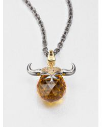 Stephen Webster | Multicolor Taurus Topaz Astro Ball Pendant Necklace | Lyst