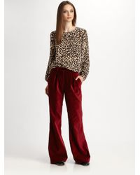 Steven Alan - Brown Cindy Silk Leopard-print Top - Lyst