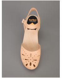 Swedish Hasbeens Natural Ankle Strap Sandal