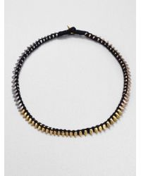 A.L.C. - Black Tritone Thread Wrapped Spiked Necklace - Lyst