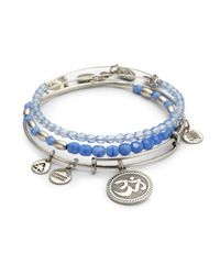 ALEX AND ANI | Blue Claire Bangle Set | Lyst