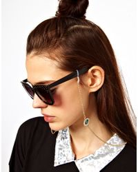 ASOS Collection - Metallic Asos Evil Eye Sunglasses Chain - Lyst
