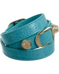 Balenciaga | Blue Arena Giant Double Tour Bracelet | Lyst