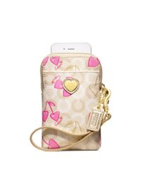 COACH - Pink Waverly Cherry Northsouth Universal Case - Lyst