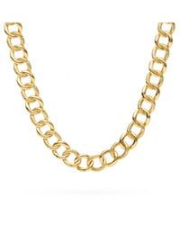 COACH | Metallic Signature C Curb Chain Link Necklace | Lyst