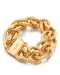 COACH | Metallic Twist Link Bracelet | Lyst