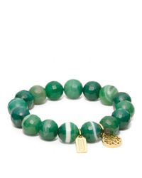 COACH | Green Pierced Op Art Bead Bracelet | Lyst
