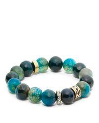 COACH | Blue Rondelle Bead Bracelet | Lyst