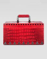 Eddie Borgo | Red Crocodileembossed Jewelry Box R | Lyst