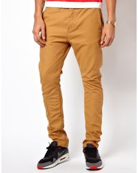 Evisu - Natural Chinos Show Workwear Straight Twill for Men - Lyst