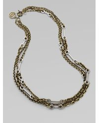 Giles & Brother - Metallic Archer Multichain Necklace - Lyst
