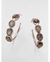 Ippolita | Gray Rock Candy London Blue Topaz & Sterling Silver Mini Teardrop Earrings | Lyst