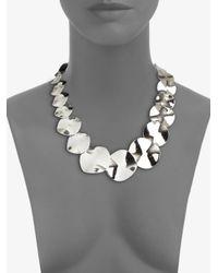 Ippolita Metallic Glamazon Scultura Sterling Silver Wavy Disc Collar Necklace