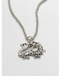 John Hardy | Metallic Naga Ruby & Sterling Silver Dragon Pendant Necklace | Lyst