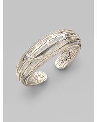 John Hardy | Metallic Sterling Silver Dragonfly Cuff Bracelet | Lyst