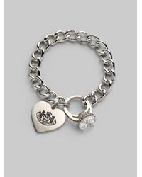 Juicy Couture | Metallic Engagement Ring Charm Bracelet | Lyst