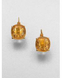 Kate Spade | Yellow Faceted Square Drop Earrings | Lyst