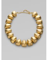 Kenneth Jay Lane | Metallic Pebble Necklace | Lyst
