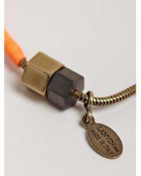 Lanvin Orange Mens Simple Woven Bracelet for men