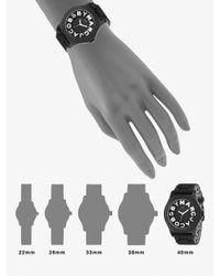 Marc By Marc Jacobs | Black Sloane Logo Strap Watch | Lyst