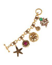 Oscar de la Renta | Metallic Sealife Charm Bracelet | Lyst