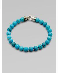 Scott Kay | Blue Turquoise Bracelet for Men | Lyst