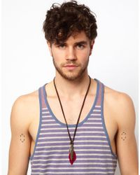 ASOS | Black Feather Necklace for Men | Lyst
