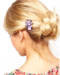ASOS | Purple Limited Edition Flower Hair Brooch | Lyst