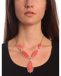 BaubleBar - Red Cerise Elizabeth Pendant Necklace - Lyst