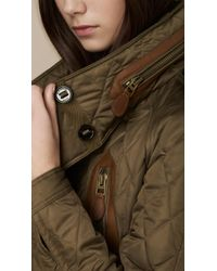 Burberry Brit Natural Cropped Quilted Bomber Jacket