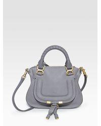 9cc412c20a Chloé Marcie Mini Crossbody Bag in Gray - Lyst