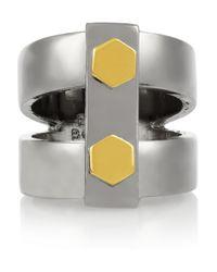 Eddie Borgo - Metallic Lock Nut Gunmetalplated Ring - Lyst