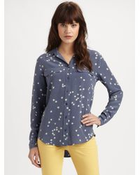 Equipment | Blue Starry Night Slim Signature Shirt | Lyst