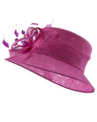 John Lewis Purple Lexi Medium Brim Occasion Hat