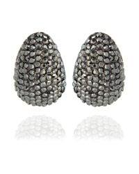 Mikey | Metallic Half Moon Earrings | Lyst