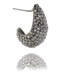 Mikey - Metallic Half Moon Earrings - Lyst