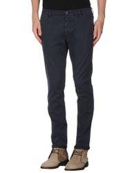 Pence Blue Casual Trouser for men