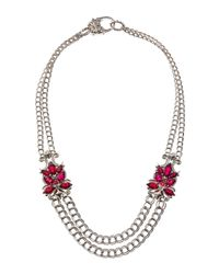 Stephen Webster - Metallic Pink Quartz Station Doublelink Necklace - Lyst