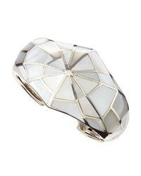 Stephen Webster Metallic Shattered White Mother Of Pearl Cuff