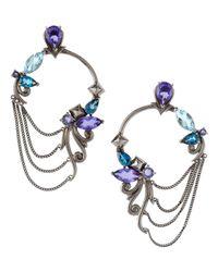 Stephen Webster | Blue Tanzanite and Iolite Hoop Earrings | Lyst