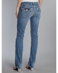True Religion - Blue Halle Super Skinny Military Womens Pant - Lyst