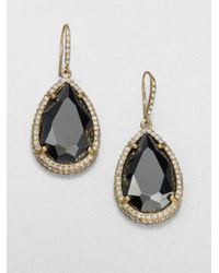 ABS By Allen Schwartz | Black Faceted Drop Earrings | Lyst