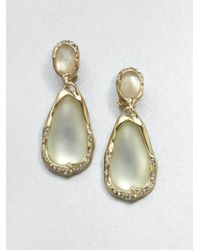 Alexis Bittar | White Lucite Crystal Motherofpearl Citrine Drop Earrings | Lyst
